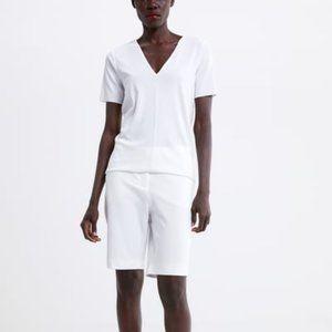 Zara Basic T-Shirt Medium white
